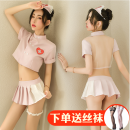 Cosplay women's wear suit goods in stock Over 14 years old Hair band + Top + skirt + t-pants + leg ring, silk stockings for collection and purchase Animation, original, film and television, games Average size Manyan Tiaohan produces aunt Guan iosgirl