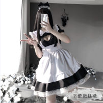 Nightdress Other / other Average size Sweet Short sleeve pajamas Middle-skirt heart-shaped youth Small lapel lace Lace fabric