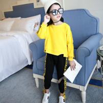 suit Other / other White, green, red, yellow 100 = 7, 110 = 9, 120 = 11, 130 = 13, 135 = 15 female spring and autumn leisure time Long sleeve + pants 2 pieces routine There are models in the real shooting Socket nothing Solid color cotton children Giving presents at school Class B Chinese Mainland