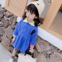Dress As shown in the figure female Other / other 90 = 7, 100 = 9, 110 = 11, 120 = 13, 130 = 15 Cotton 95% polyurethane elastic fiber (spandex) 5% spring and autumn Korean version Long sleeves Solid color cotton Lotus leaf edge Class B Three, four, five, six, seven, eight Chinese Mainland