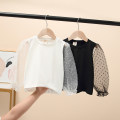 T-shirt White, black Other / other 100 = 7, 110 = 9, 120 = 11, 130 = 13, 135 = 15 female summer Long sleeves Crew neck leisure time No model nothing cotton Solid color Cotton 95% polyurethane elastic fiber (spandex) 5% Class B other Three, four, five, six, seven, eight Chinese Mainland