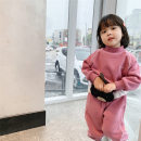 suit Other / other Black, pink 90 = 7, 100 = 9, 110 = 11, 120 = 13, 130 = 15 female spring and autumn Korean version Long sleeve + pants 2 pieces routine There are models in the real shooting Socket nothing Solid color cotton children Giving presents at school Class B Chinese Mainland