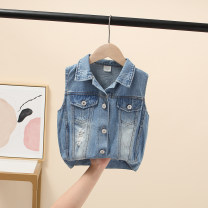 Vest female Denim 100 = 7, 110 = 9, 120 = 11, 130 = 13, 135 = 15 Other / other spring and autumn routine There are models in the real shooting Single breasted Korean version cotton Solid color Class B Chinese Mainland Three, four, five, six, seven, eight
