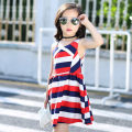 Dress As shown in the figure female Other / other 100 = 7, 110 = 9, 120 = 11, 130 = 13, 135 = 15 Other 100% summer Korean version Skirt / vest stripe other Lotus leaf edge Class B Three, four, five, six, seven, eight