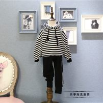 suit Other / other As shown in the figure 100 = 7, 110 = 9, 120 = 11, 130 = 13, 140 = 15 neutral spring and autumn Korean version Long sleeve + pants 2 pieces routine There are models in the real shooting Socket No detachable cap stripe cotton children Learning reward Class B