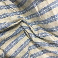 Fabric stripe Clothing fabric hemp Europe and America Huanya two thousand one hundred and twelve