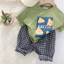 T-shirt Green cheese t [131] in stock, green cheese t [131] pre-sale Round Gulu 80cm,90cm,100cm,110cm,120cm,130cm,140cm neutral other other 2 years old, 3 years old, 4 years old, 5 years old, 6 years old