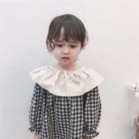 Dress Plaid Lapel baby skirt [241] in stock, plaid Lapel baby skirt [241] pre-sale female Round Gulu 80cm,90cm,100cm,110cm,120cm,130cm,140cm Other 100% 12 months, 2 years old, 3 years old, 4 years old, 5 years old, 6 years old