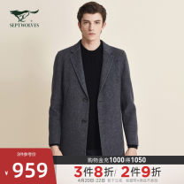 woolen coat 165/84A/M 170/88A/L 175/92A/XL 180/96A/XXL 185/100A/XXXL 190/104A/XXXXL Septwolves Business gentleman Woolen cloth Winter 2020 Medium length Other leisure standard Same model in shopping mall (sold online and offline) youth tailored collar Single breasted Business Casual Solid color wool