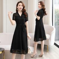 Square Dance Dress M,L,XL,2XL Apricot, black, pink other female