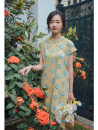 cheongsam Summer 2020 S,M,L Autumn fragrant yellow Short sleeve Single cheongsam Retro Low slit daily Oblique lapel Decor 25-35 years old Piping Nanfeng Valley cotton 96% and above