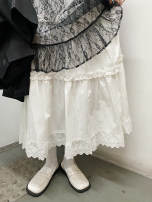 skirt Spring 2021 Average size Black, white Mid length dress Versatile High waist A-line skirt Solid color Type A 18-24 years old 218Q6838 31% (inclusive) - 50% (inclusive) other Other / other other Lace