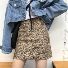 skirt Autumn of 2018 S M L Leopard skirt Short skirt sexy High waist skirt Leopard Print Type A 18-24 years old Other / other