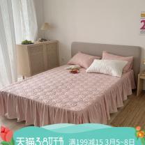 Bed skirt 150cmx200cm,180cmx200cm,200cmx220cm cotton Bed skirt single piece - peach powder, bed skirt single piece - Retro grey, bed skirt single piece - classic white, bed skirt + pillow case 2 (peach powder), bed skirt + pillow case 2 (retro grey), bed skirt + pillow case 2 (classic white)