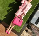 short coat Winter 2017 Xs, s, m, l, custom size, take notes Black, cherry pink skirt suit, cherry pink pants suit Long sleeves routine routine Two piece set Self cultivation Versatile routine Crew neck Buckle 18-24 years old