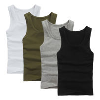 Vest / vest Fashion City Fat and trendy L XL 2XL 3XL 4XL 5XL 6XL Home standard Sweat vest thin summer Crew neck Large size 2015 Simplicity in Europe and America Solid color Socket Cloth hem cotton Summer 2015