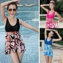 one piece  Sanqi XL,XXL,XXXL -3 red, - 1 blue, - 2 black One piece flat corner swimsuit With chest pad without steel support
