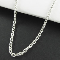 Necklace Silver ornaments 101-200 yuan Other / other brand new Punk male Custom made no Fresh out of the oven 51cm (inclusive) - 80cm (inclusive) no nothing Not inlaid silver other other Silver and gold plating