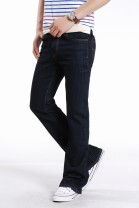Jeans Youth fashion 27 (2.08 feet), 28 (2.16 feet), 29 (2.23 feet), 30 (2.31 feet), 31 (2.39 feet), 32 (2.46 feet), 33 (2.54 feet), 34 (2.62 feet) Washed black blue Super high elasticity trousers winter youth middle-waisted 2014 horn zipper washing