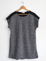 Dress Other / other Dark Khaki, beige, black grid, black dots M,L,XL Japanese  Sleeveless routine spring Crew neck lattice chemical fiber
