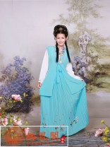 National costume / stage costume Winter 2016 sky blue S,M,L,XL Qifeng Pavilion
