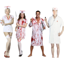 Clothes & Accessories Qixidi Male doctor dress female nurse dress blood dress male dress blood dress female Dress Halloween Ghost bride black stethoscope plasma syringe white stethoscope male vampire dress female vampire dress blood dress nurse stockings Halloween Nurse doctor nothing