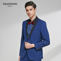Suit Youth fashion Franposition / flange & middot; shiton navy blue 170/88A(46) routine SBB16802311J Wool 59.8% polyester 35.5% Silk 4.7% Spring 2017 Woollen cloth