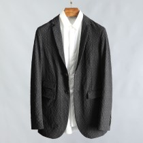 man 's suit Fashion City black HDAXIAN routine 48 50 Self cultivation Double breasted Other leisure Back middle slit Long sleeves spring routine Simplicity in Europe and America Casual clothes Flat lapel