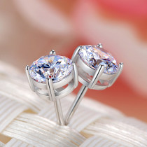 Ear Studs Silver ornaments RMB 25-29.99 Fuyi (spot) silver (6mm) brand new Japan and South Korea female goods in stock Fresh out of the oven other other SE-0019 925 Silver yes