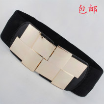 Belt / belt / chain other female Waistband Versatile Single loop Youth, youth a hook Geometric pattern Glossy surface 7.5cm alloy Naked, elastic