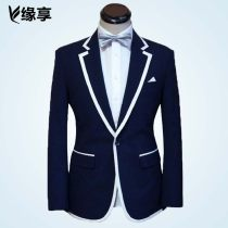 Suit Business gentleman Enjoy by fate navy blue Tailor made routine L009 Wool 70% polyester 30% Spring 2016 Pure e-commerce (online only)