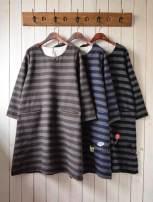 Dress Spring 2016 Average size Middle-skirt singleton  Long sleeves Sweet Crew neck Loose waist stripe Socket A-line skirt routine 30% and below wool Mori