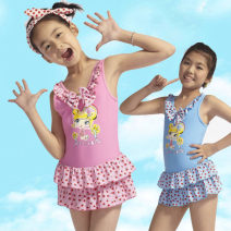 Children's swimsuit / pants Bugler Conjoined body is related to height. The height of a person is about 6 (1m, 10kg), 8 (1m, 15kg), 10 (1m 2, 20kg), 12 (1m 3, 26kg), 14 (1m 4, 30kg), 16 (1m 45, 35kg) -1 Pink - 2 blue Children's one piece swimsuit female nylon Autumn 2013