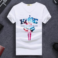 T-shirt Fashion City routine S,M,L,XL,2XL,3XL Auris Short sleeve V-neck Self cultivation daily summer teenagers routine tide 2018 Cartoon animation printing cotton Sports Fashion brand More than 95%