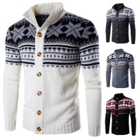 T-shirt / sweater Others Youth fashion White, gray, black, dark gray M,L,XL,2XL routine Cardigan stand collar Long sleeves Slim fit leisure time youth No iron treatment Coarse wool (8, 6)
