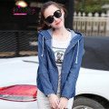 short coat Spring 2016 MLXLXXL Light blue dark blue Long sleeves have cash less than that is registered in the accounts routine singleton  easy commute routine Hood zipper Solid color 18-24 years old Han Xianna Three dimensional decoration of pocket, used zipper Y353 Pure e-commerce (online only)