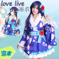 Cosplay women's wear Other women's wear goods in stock Over 6 years old Haiwei bathrobe + waist cover, Haiwei wig, Haiwei headdress comic L,M,S,XL Xiaoxiao dress Japan Love Live! Yuantian Haiwei