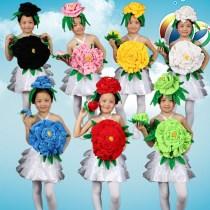 Children's performance clothes White black pink red yellow light green sky blue female 100cm 110cm 120cm 130cm 140cm 150cm 160cm 170cm
