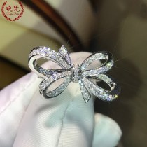Ring / ring Silver ornaments 301-400 yuan Other / other Bows 18 # bows 17 # bows 16 # bows 14 # bows 8 # bows 15 # bows 11 # bows 10 # bows 9 # bows 12 # bows 13# brand new goods in stock Europe and America female Fresh out of the oven Gold Plated inlaid artificial gem / semi gem