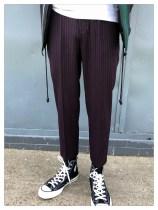 Casual pants Others Youth fashion Purple Stripe S(27-28) XXL(35-36) XL(33-34) L(31-32) M(29-30) XXXL(37-38) XXXXL(39-40) Ninth pants Travel? Self cultivation