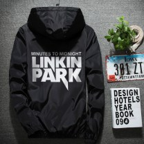 Jacket Nan zhanglun Youth fashion S,M,L,XL,2XL,3XL,4XL,5XL,6XL,7XL routine Self cultivation Other leisure spring Long sleeves Wear out Hood tide teenagers routine Zipper placket 2017 Rubber band hem No iron treatment Closing sleeve other polyester fiber printing Zipper bag polyester fiber
