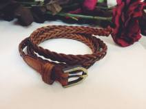 Belt / belt / chain Double skin leather Black, brown [pre-sale 10 days] female belt leisure time youth 1cm