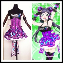 Cosplay women's wear skirt Customized Over 8 years old Guoguo suit, South bird suit, Dongtiaoxi suit, Lin suit, Zhenji suit, Huayang suit, Nicole suit, Huili suit, Haiwei suit, bracelet, ankle ring, skirt (LED light) Animation, games L,M,S,XL Butterfly House Japan Lovely wind Love Live! clothing