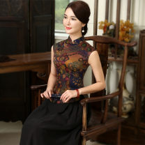 jacket Summer of 2018 S. M, l, XL, XXL, XXXL, skirt - one size fits all Fragrance, fragrant cloud gauze dress, warm fragrance Zhenshi Over 35 years old silk 96% and above