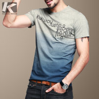 T-shirt Youth fashion routine S,M,L,XL,2XL,3XL Kuegou / cool clothes Short sleeve Crew neck Self cultivation daily summer KDT-102 youth routine tide other Alphanumeric cotton The thought of writing No iron treatment Domestic famous brands More than 95%