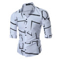 shirt Youth fashion Others M,L,XL,2XL,3XL White, black, navy routine Pointed collar (regular) Long sleeves standard Other leisure Four seasons