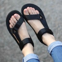 Sandals 35 36 37 38 39 40 41 42 43 44 White black Iarota / Aiyue Mesh Barefoot Flat bottom Low heel (1-3cm) Spring 2016 Velcro Korean version Solid color Adhesive shoes Youth (18-40 years old) middle age (40-60 years old) rubber daily Front and rear trip strap Hollowed out Roman style Low Gang cloth