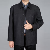 Jacket Dongciie.wor/dunchi Business gentleman Thin 009 dark grey 170/90(XL),180/98(3XL),185/102(4XL),190/106(5XL),175/94(XXL) routine easy Other leisure autumn Polyethylene terephthalate (polyester) 70% Cotton 30% Long sleeves Wear out Lapel Business Casual old age routine Single breasted 2020 Rib
