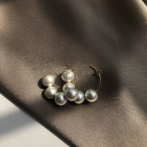 Earrings other 51-100 yuan TWOR A pair of handmade cotton pearl earrings in stock