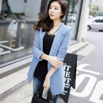 suit Autumn 2016 Blue red S M L XL Long sleeves Medium length Self cultivation V-neck A button commute routine Solid color X503 25-29 years old 96% and above polyester fiber Q.C.T Polyester 96% other 4%